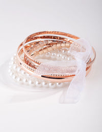 Rose Gold Diamante Baby Mix Bracelet - link has visual effect only