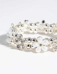 Silver Flower Bracelet and Ring Pack - link has visual effect only