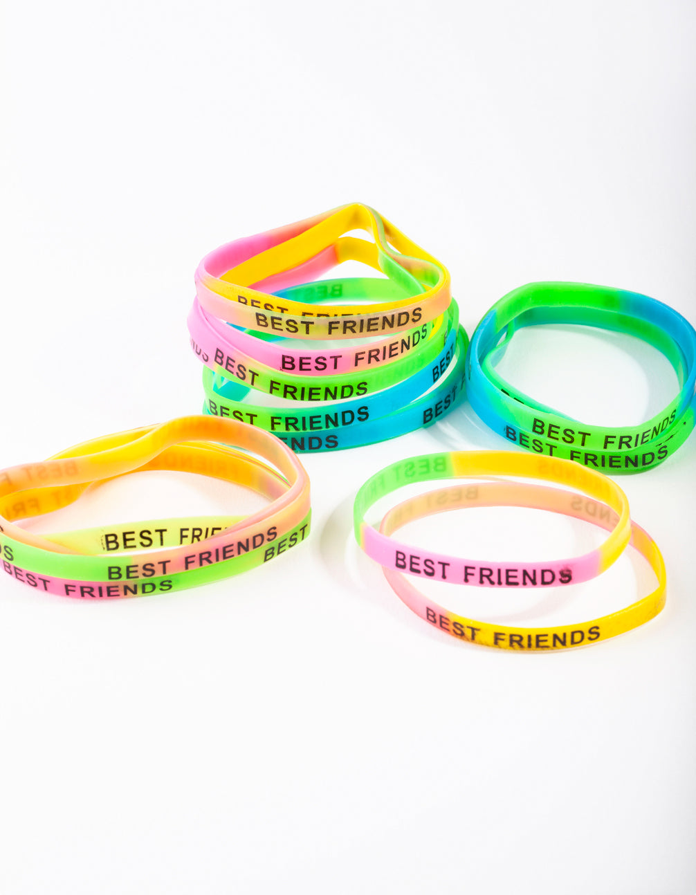 Kids Multi Coloured Best Friend Bracelet 20 Pack