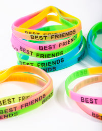 Kids Multi Coloured Best Friend Bracelet 20 Pack - link has visual effect only