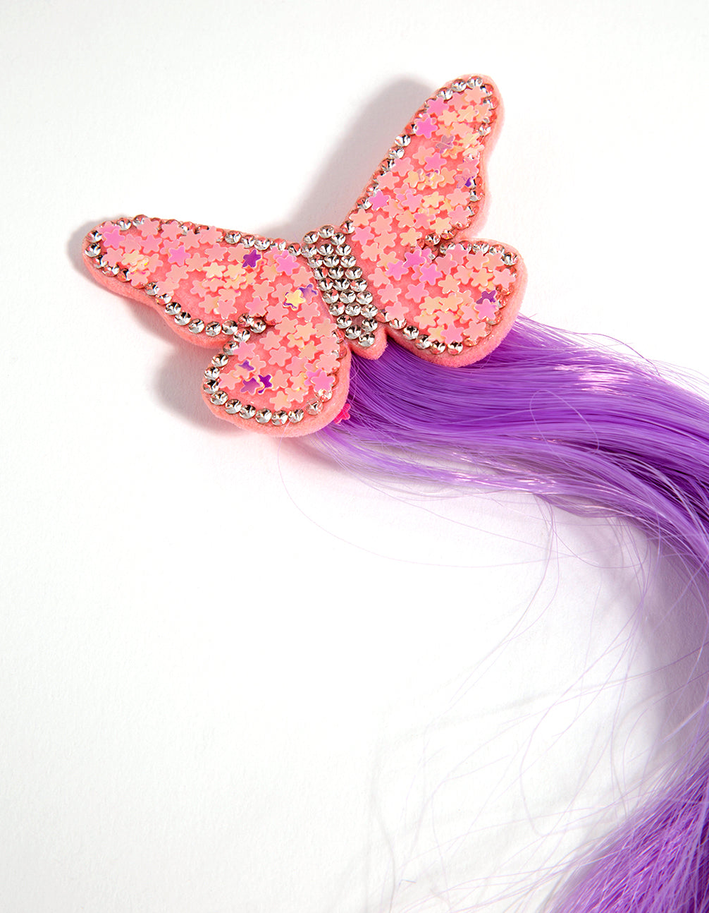 Fabric Faux Hair Butterfly Clip
