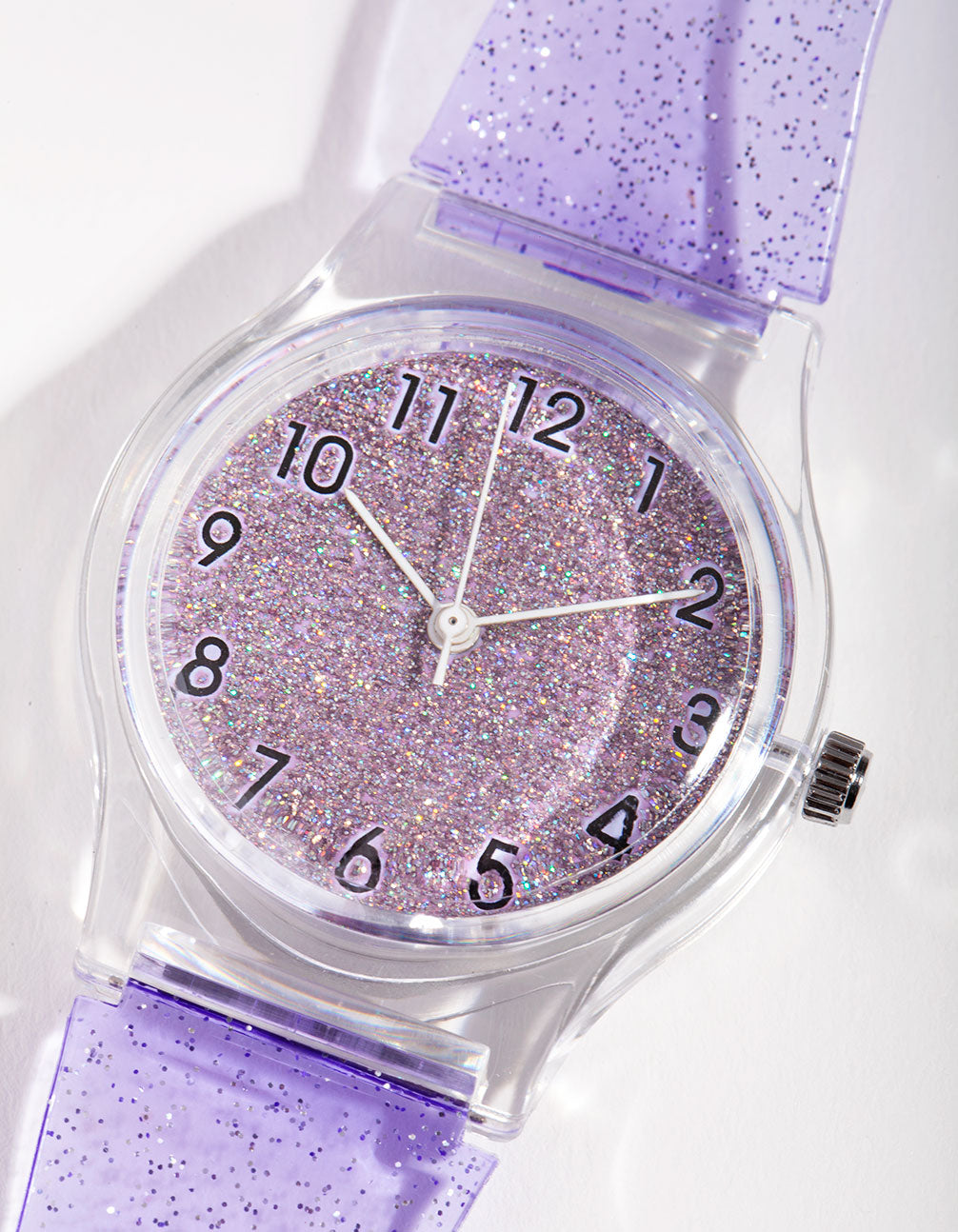 Silicon Buckle Glitter Transparent Watch