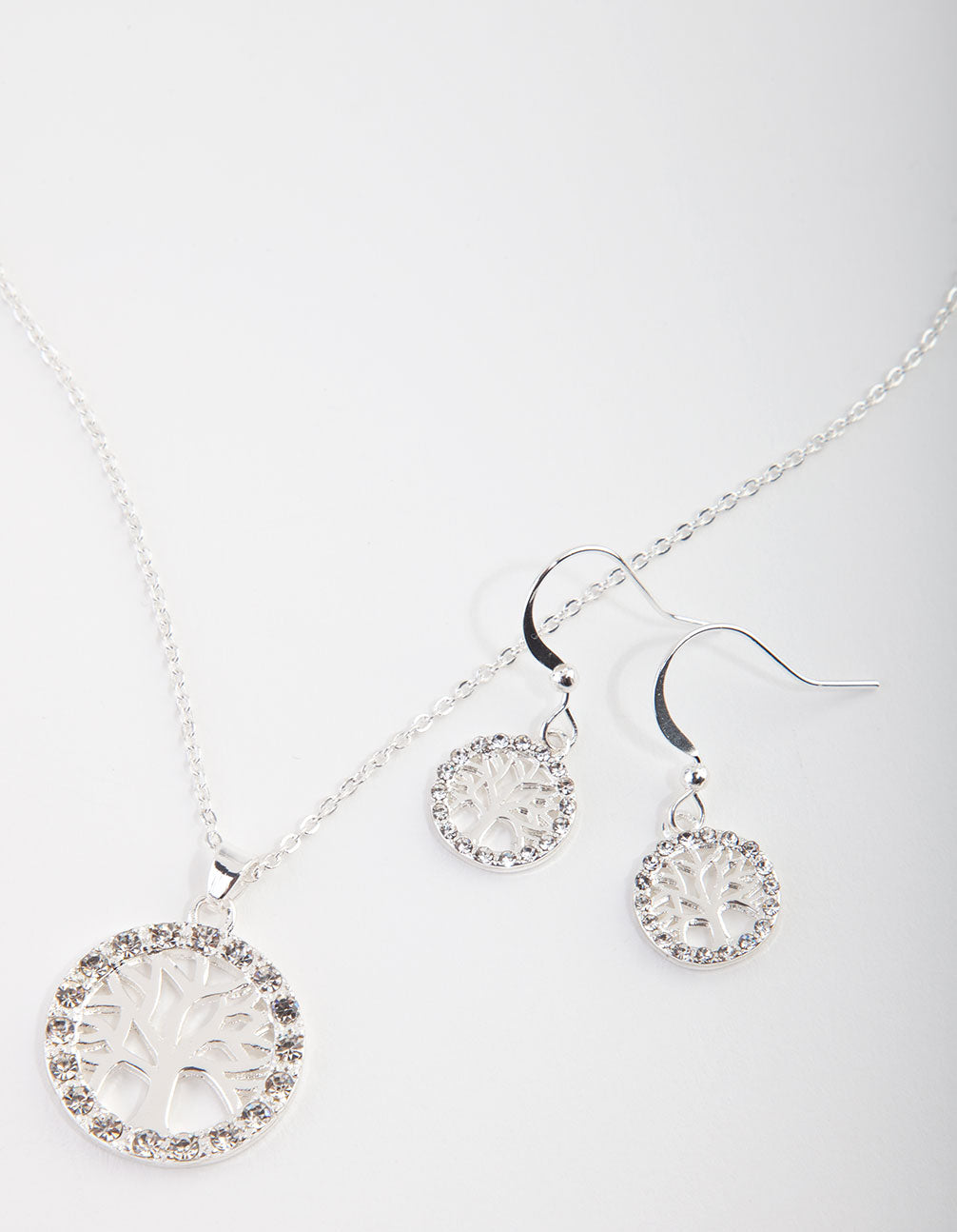 Diamante Tree of Life Necklace and Earrings