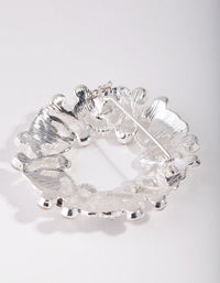 Silver Regal Circle Diamante Broach - link has visual effect only