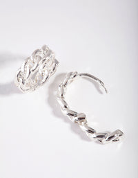 Silver Mini Chain Huggie Earring - link has visual effect only
