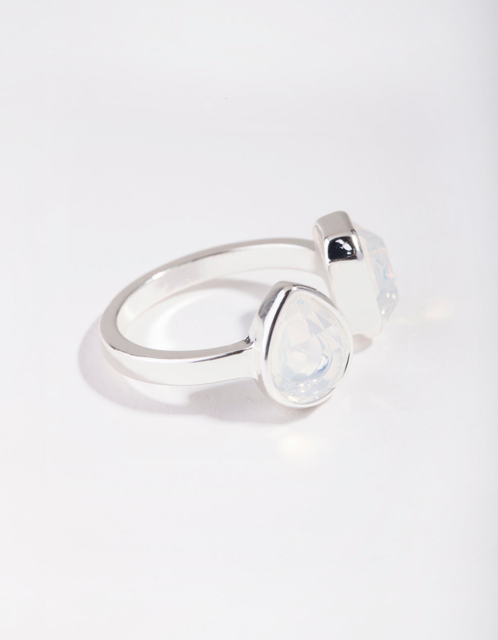Silver Open Centre Stone Ring