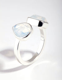 Silver Open Centre Stone Ring - link has visual effect only