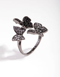 Matte Cluster Butterfly Ring - link has visual effect only