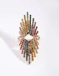 Statement Spray Diamante Ring - link has visual effect only