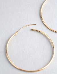 9ct Gold 40mm Fine Hoop Earrings - link has visual effect only