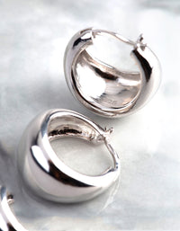 Sterling Silver Small Chubby Hoop Earrings - link has visual effect only
