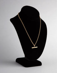 Gold Plated Sterling Silver Rolo Chain Fob Necklace - link has visual effect only