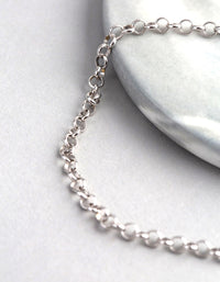 Sterling Silver Rolo Chain Bracelet - link has visual effect only