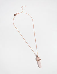 Rose Gold Quartz Shard Necklace - link has visual effect only