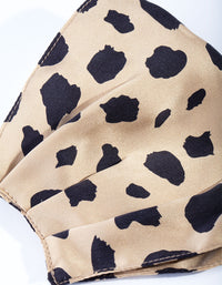 Leopard Print 100% Silk Face Mask - link has visual effect only