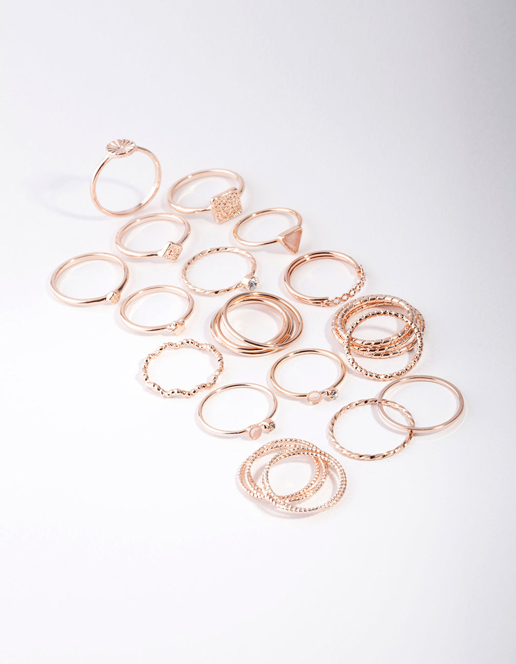 Rose Gold Diamond Cut 26 x 12 Pack Rings