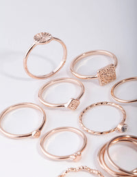 Rose Gold Diamond Cut 26 x 12 Pack Rings - link has visual effect only