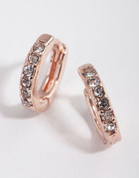 Rose Gold Diamante Huggie - link has visual effect only