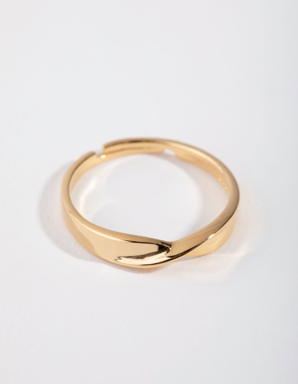Gold-Plated Sterling Silver Statement Twist Band Ring