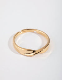 Gold-Plated Sterling Silver Statement Twist Band Ring - link has visual effect only