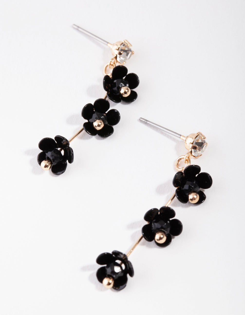 Gold Baby Flower Drop Earrings