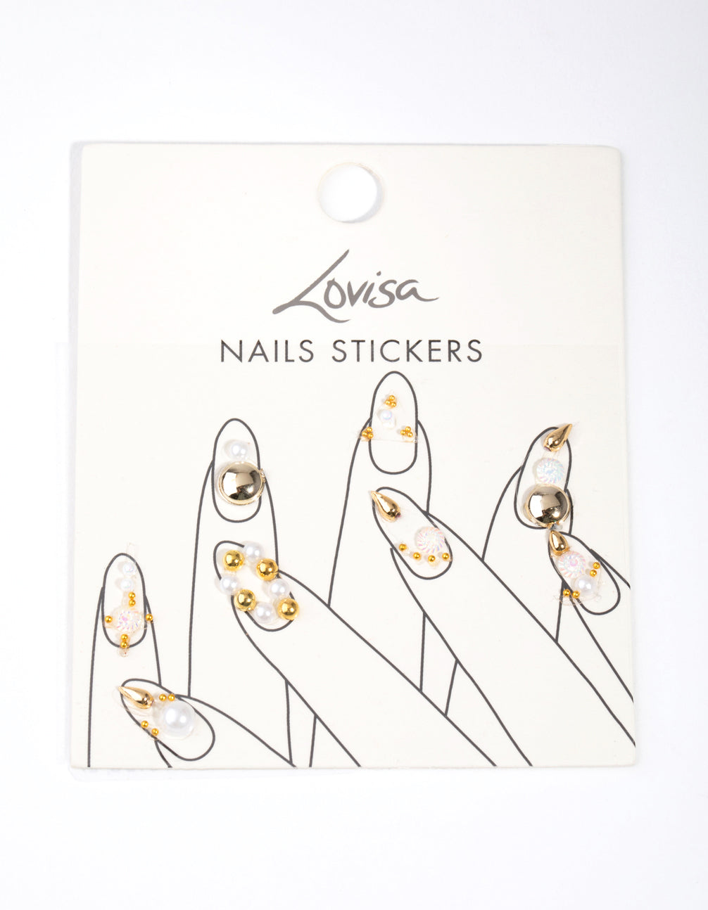 Gold Pearl Art Nail Stickers