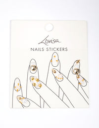 Gold Pearl Art Nail Stickers - link has visual effect only