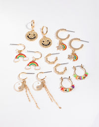 Gold Motifs 6-Pack Earring - link has visual effect only
