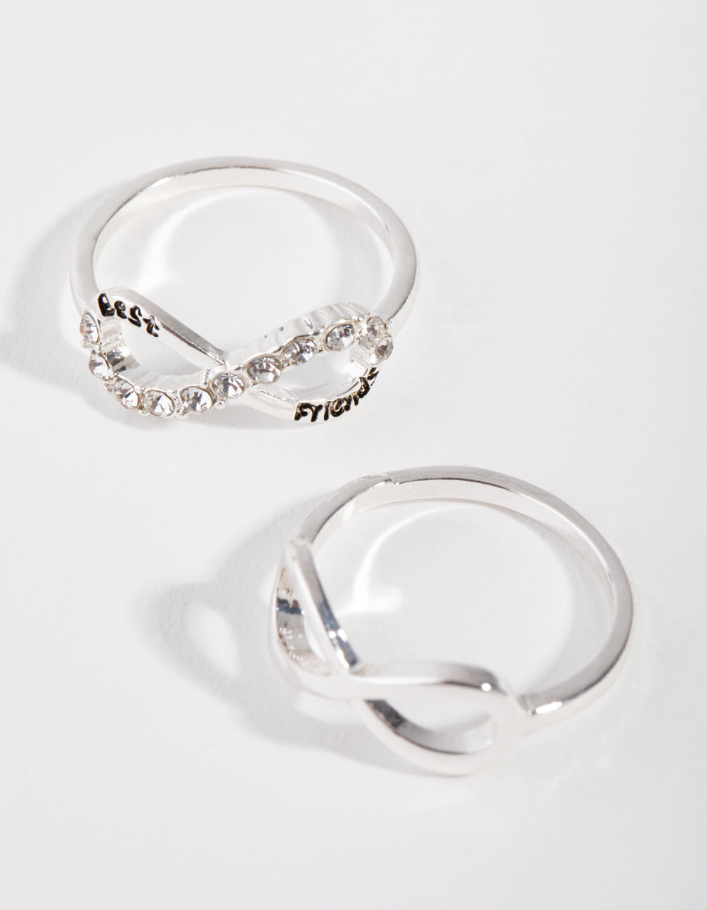 Silver Infinity BFF Two Pack RIngs
