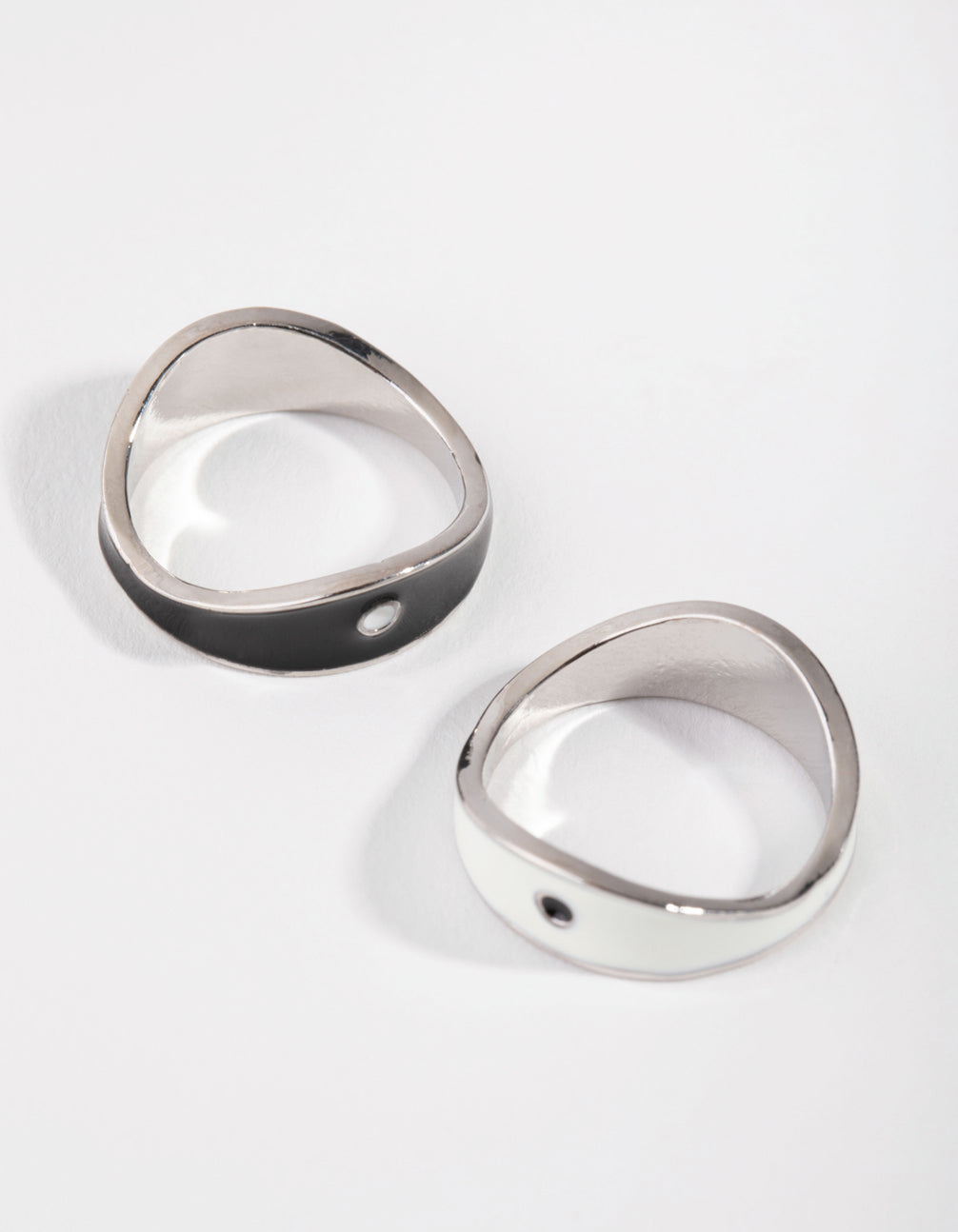 Silver Yin & Yang BFF Band 2-Pack RIngs