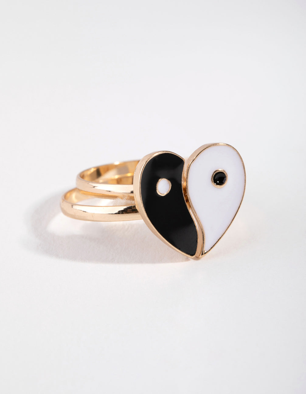 Gold Yin Yang BFF 2-Pack Rings