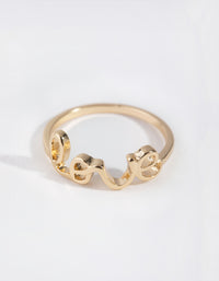 Gold Love Word Rings - link has visual effect only
