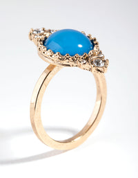 Gold Mood Stone Ring - link has visual effect only