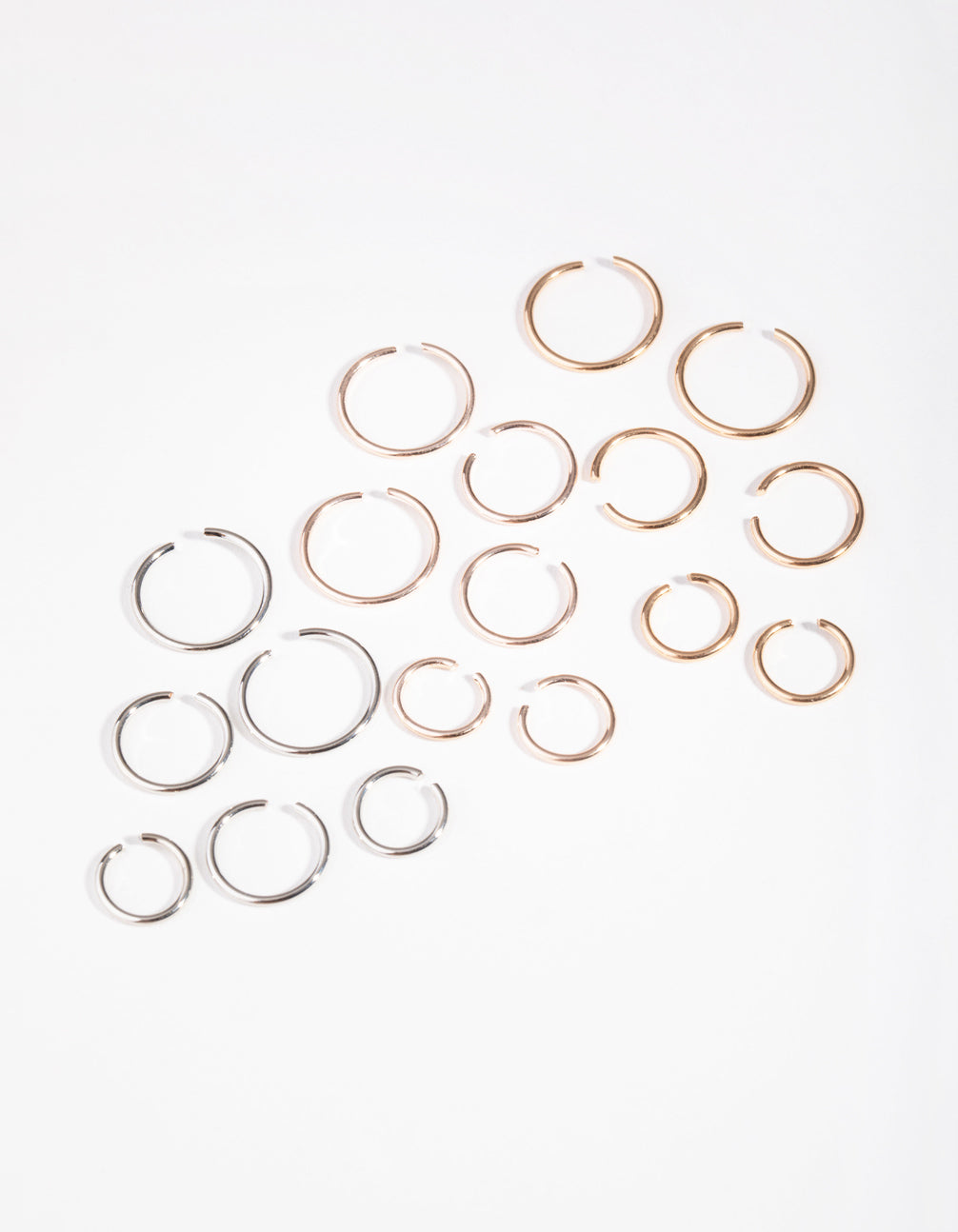 Mixed Metals Ball End Pack Faux Rings