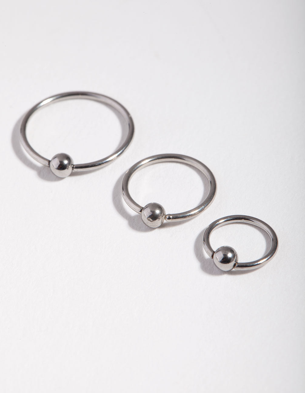 Surgical Steel Ball 3-Pack Nose Rings