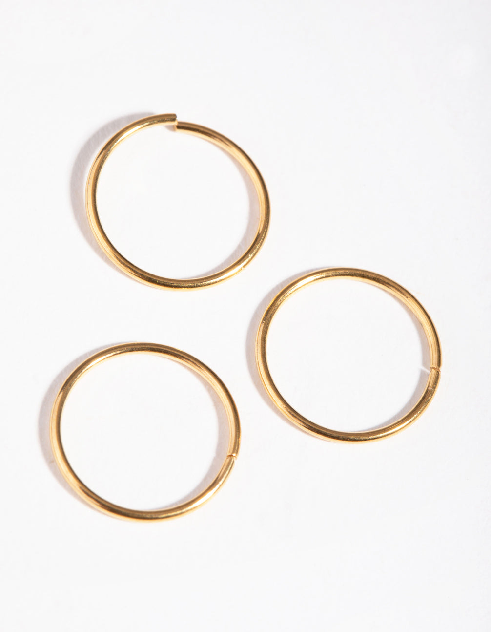 Gold Plain 3-Pack Nose Rings