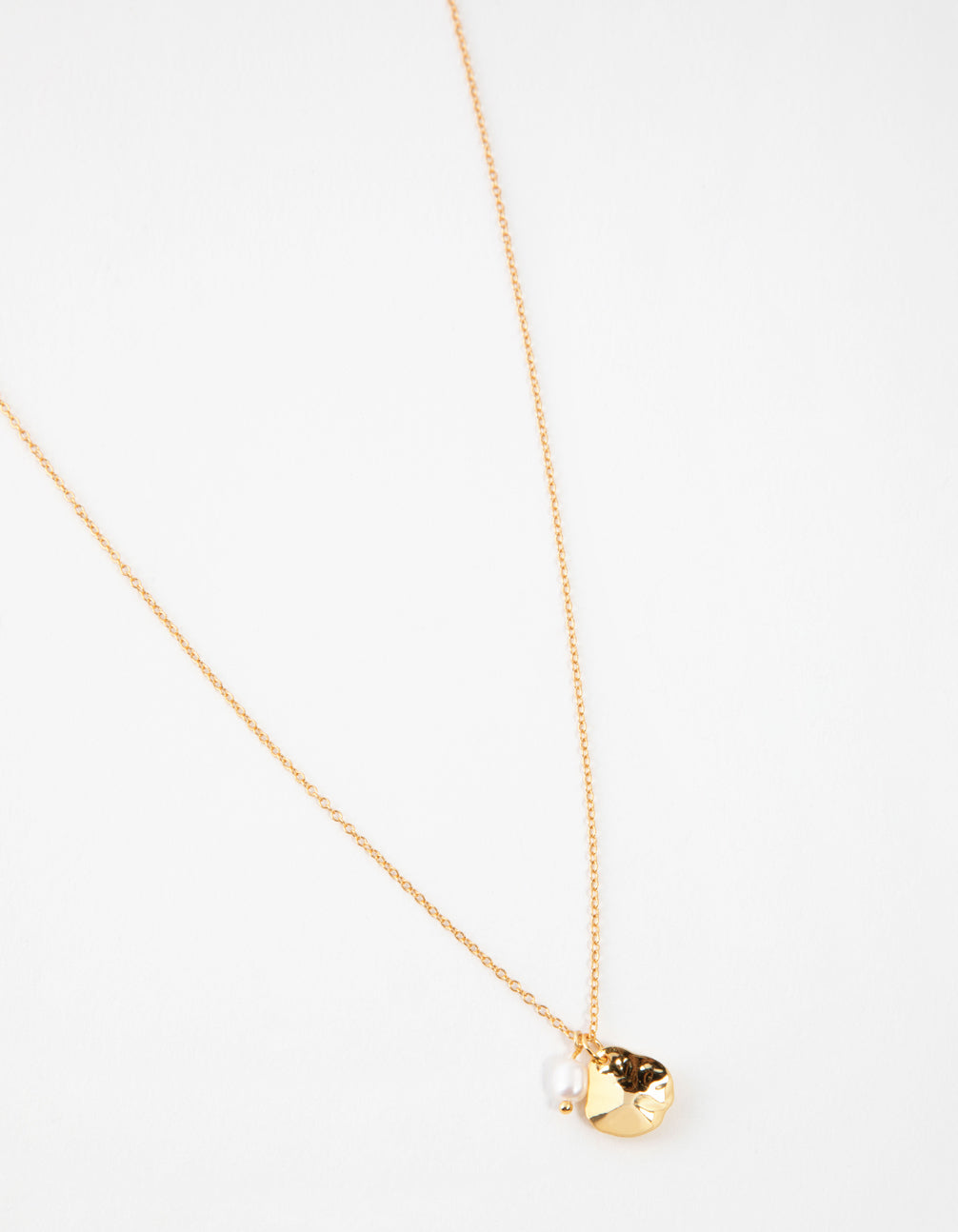 Yellow Gold Plated Cupchain Necklace