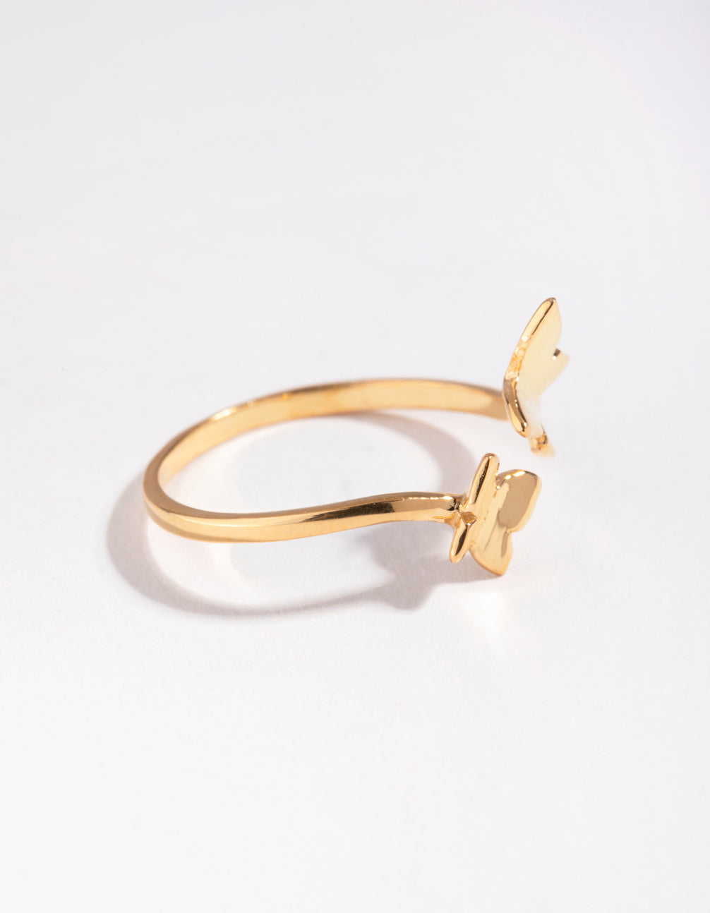 Yellow Gold Plated Open Butterfly Ring