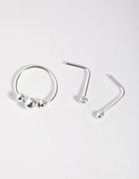 Sterling Silver Stud Diamante 3-Pack Nose - link has visual effect only