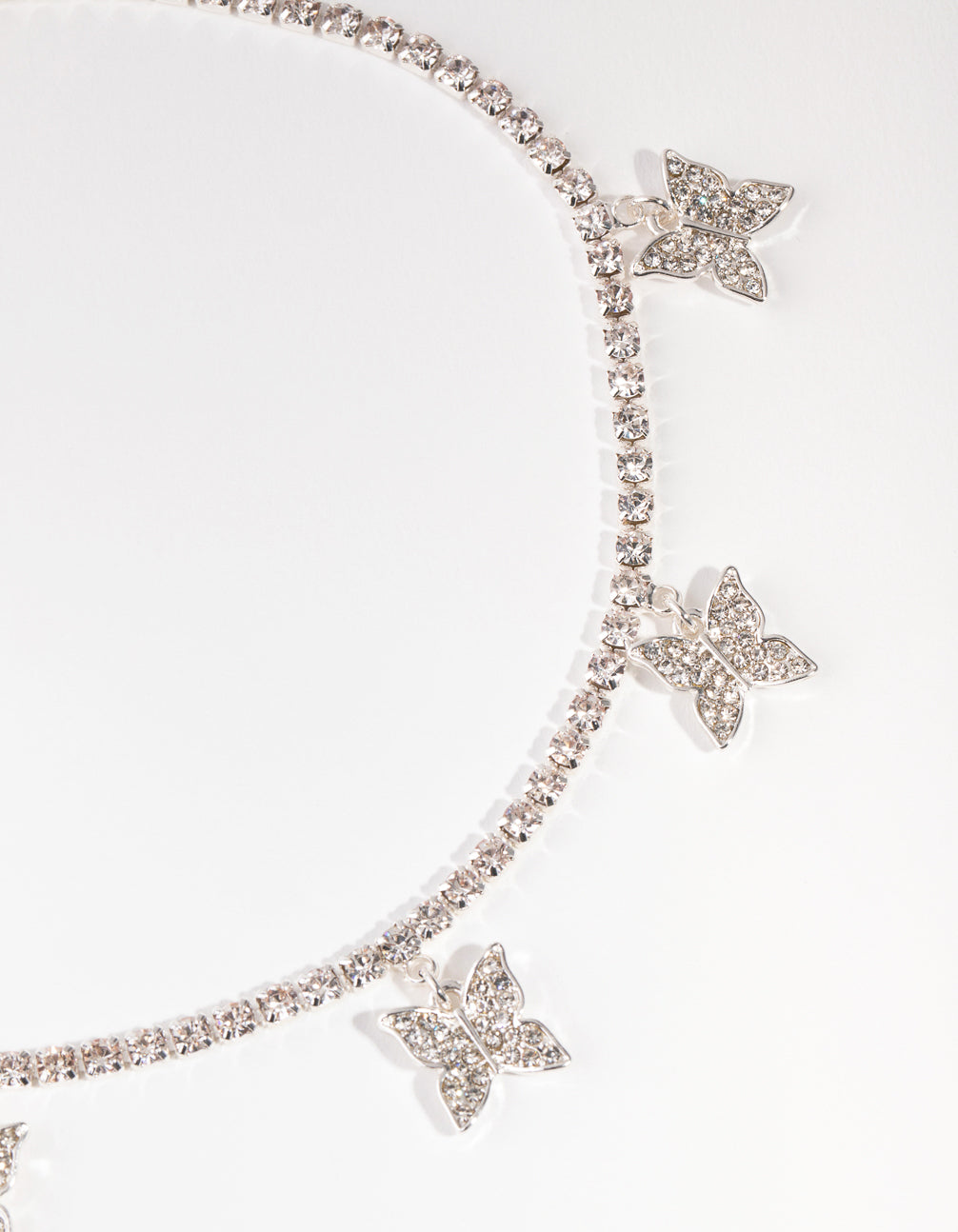 Diamante Butterfly Choker