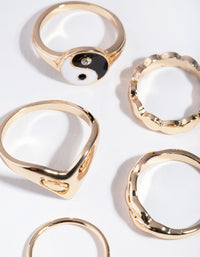 Gold Yin Yang 3-Pack Rings - link has visual effect only