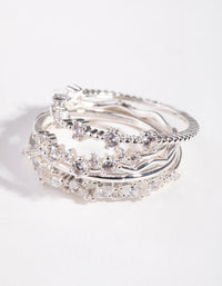 Silver Delicate Bands 5-Pack Rings - link has visual effect only