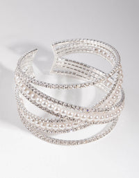 Silver Zigzag Pearl Bracelet - link has visual effect only
