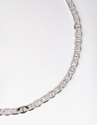 Silver Flat Mariner Chain Necklace - link has visual effect only