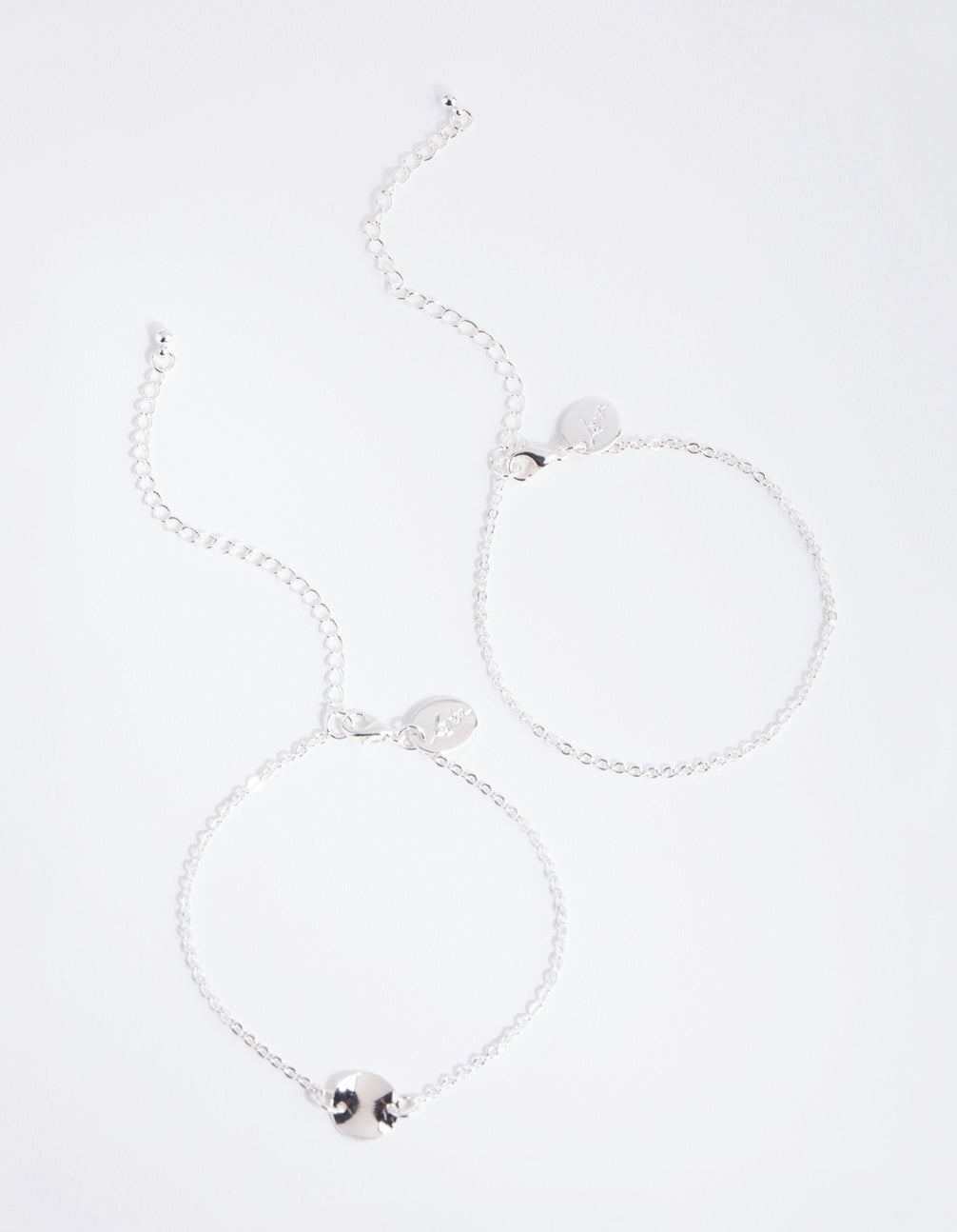 Silver Coin Bracelet 2-Pack