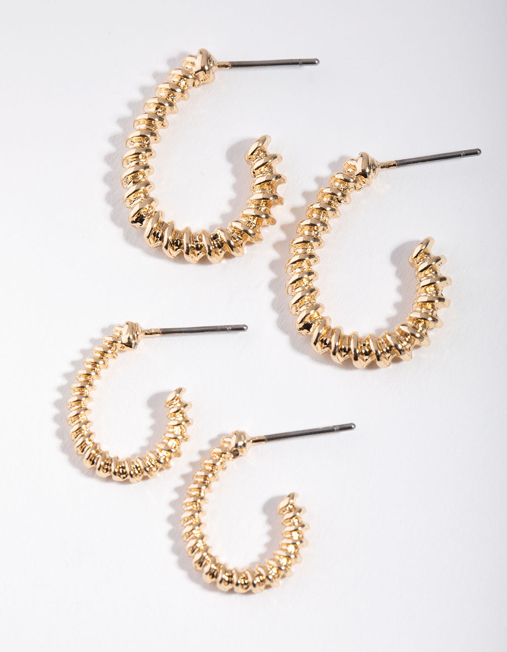 Gold Twisted Hoop 2-Pack Earring