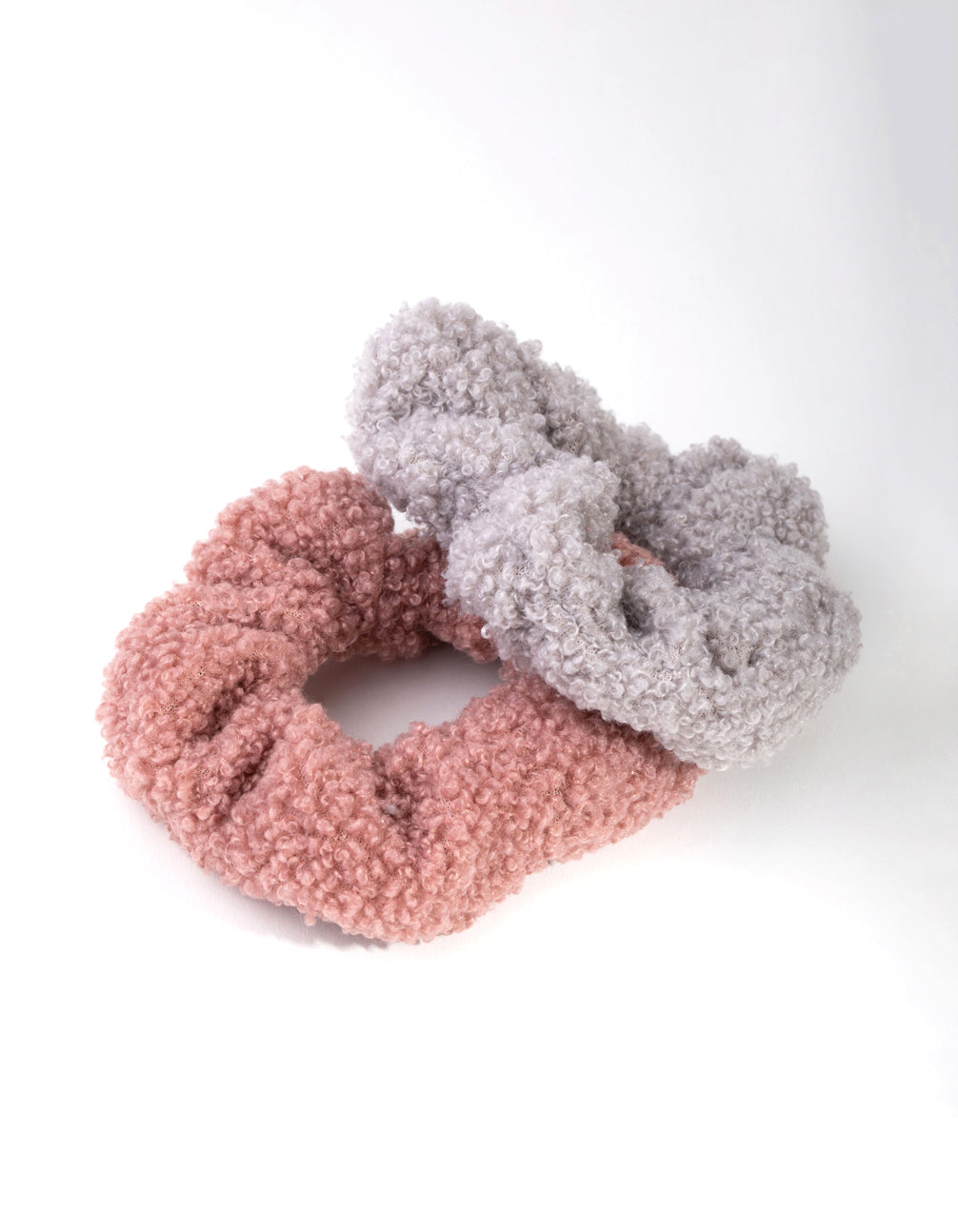 Fabric Teddy 2-Pack Scrunchies