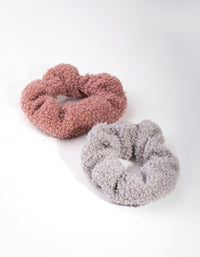 Fabric Teddy 2-Pack Scrunchies - link has visual effect only