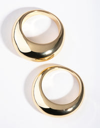 Gold Small and Big Dome 2-Pack Rings - link has visual effect only