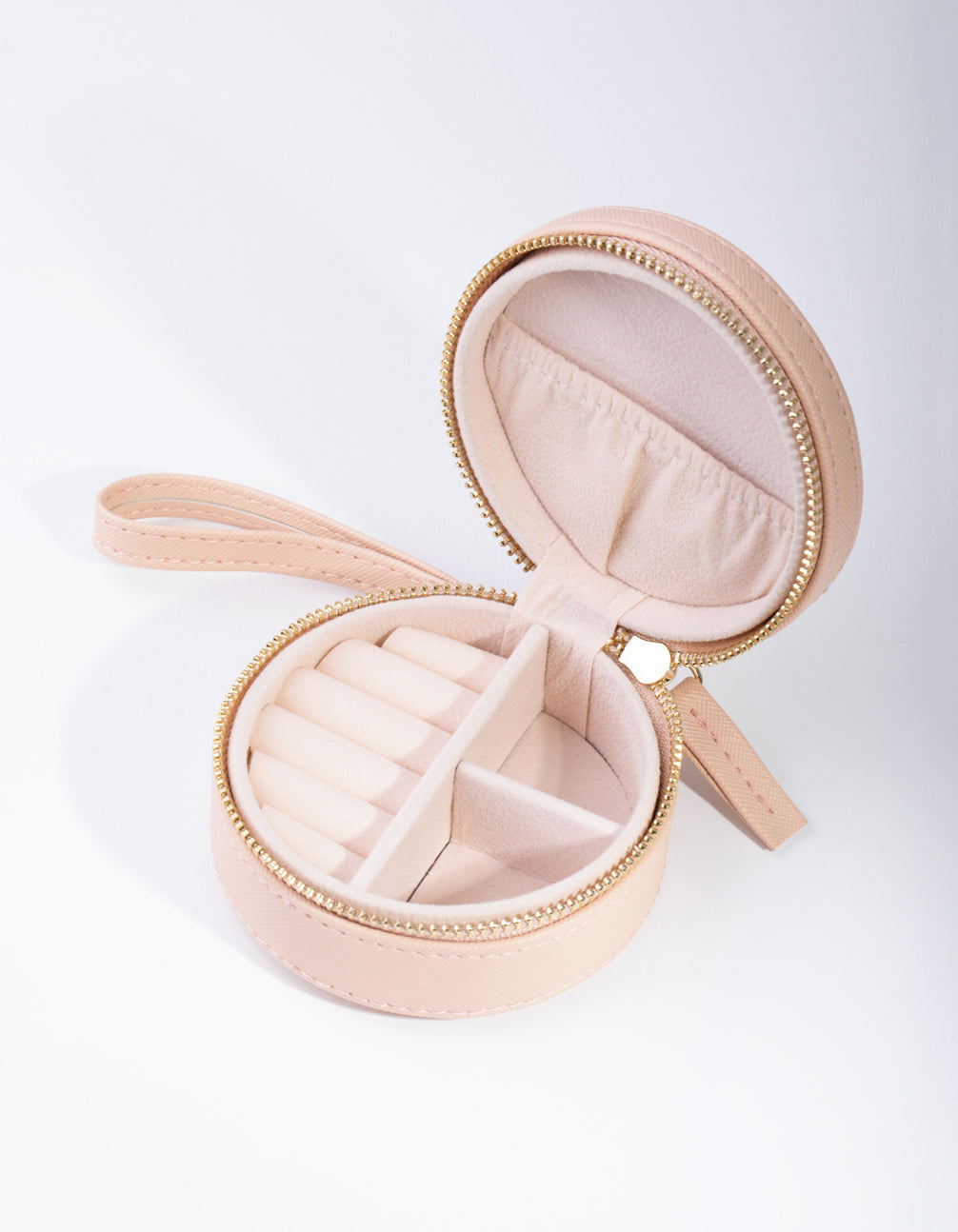 Blush Round Jewellery Case